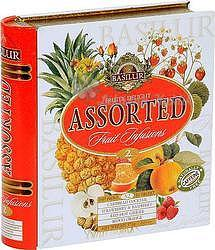 Basilur Fruit Infusions Book Fruity Delight plech 32x1,8g 4435