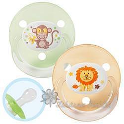 BABY NOVA dudlík silikon kulatý rund dekor 26004