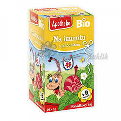Apotheke Pohádkový čaj dětský BIO Imunita s jahodník.20x2g