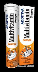 Additiva multivitamin tbl.eff.20 pomeranč