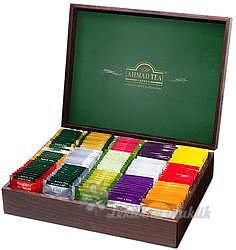 AHMAD Tea dřevěná dárková kazeta 15x 10 sáčků