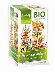 Apotheke BIO Dětský čaj s rakyt. obranysch.20x1.5g