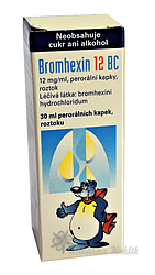 Bromhexin 12 BC sol.1x30ml