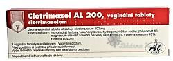 CLOTRIMAZOL AL 200 tbl vag 3x200mg+apl