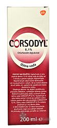 Corsodyl roztok 0,1% 200ml