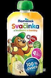 Hamánek SVAČINKA 100% ovoce s hruškami a banány 120g