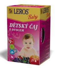 LEROS BABY Dětský čaj s ovocem n.s.