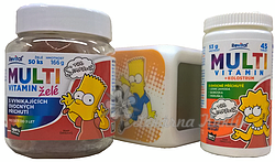 The Simpsons Bart Multivitaminy 50želé+45tbl+budík - 2