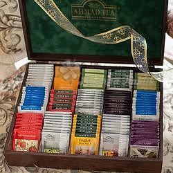 Ahmad Tea Dřevěná kazeta 15 x 10 x 2 g - 3